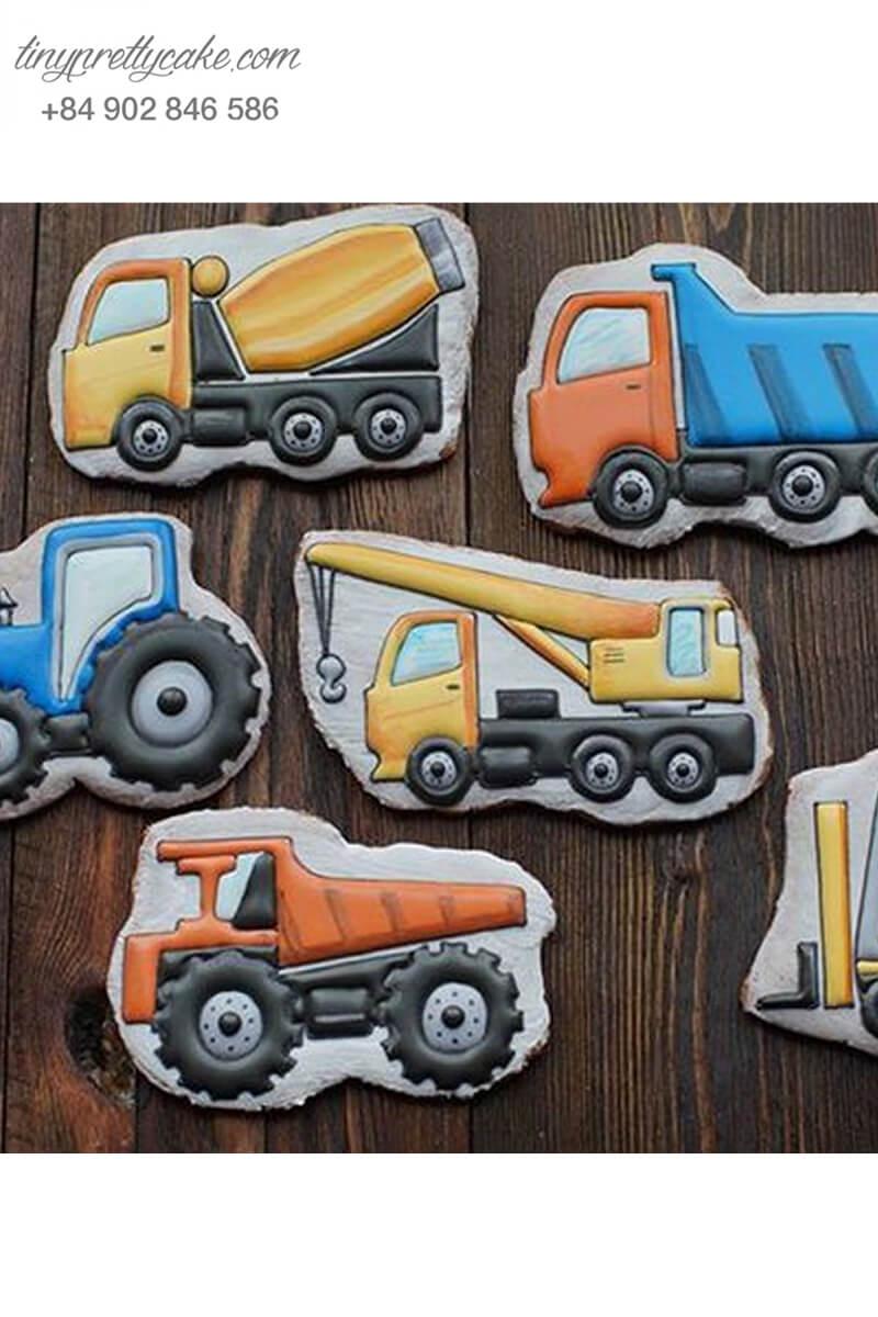 Set 6 cookie xe tải đồ chơi – mừng sinh nhật bé trai