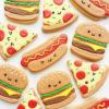 Set 11 Cookie hình bánh Hamburger và Pizza siêu đáng yêu - mừng sinh nhật mới lạ
