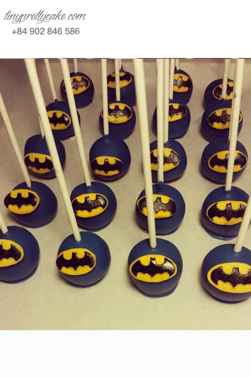 cakepop, fondant, batman, bé trai, sinh nhật, cực chất