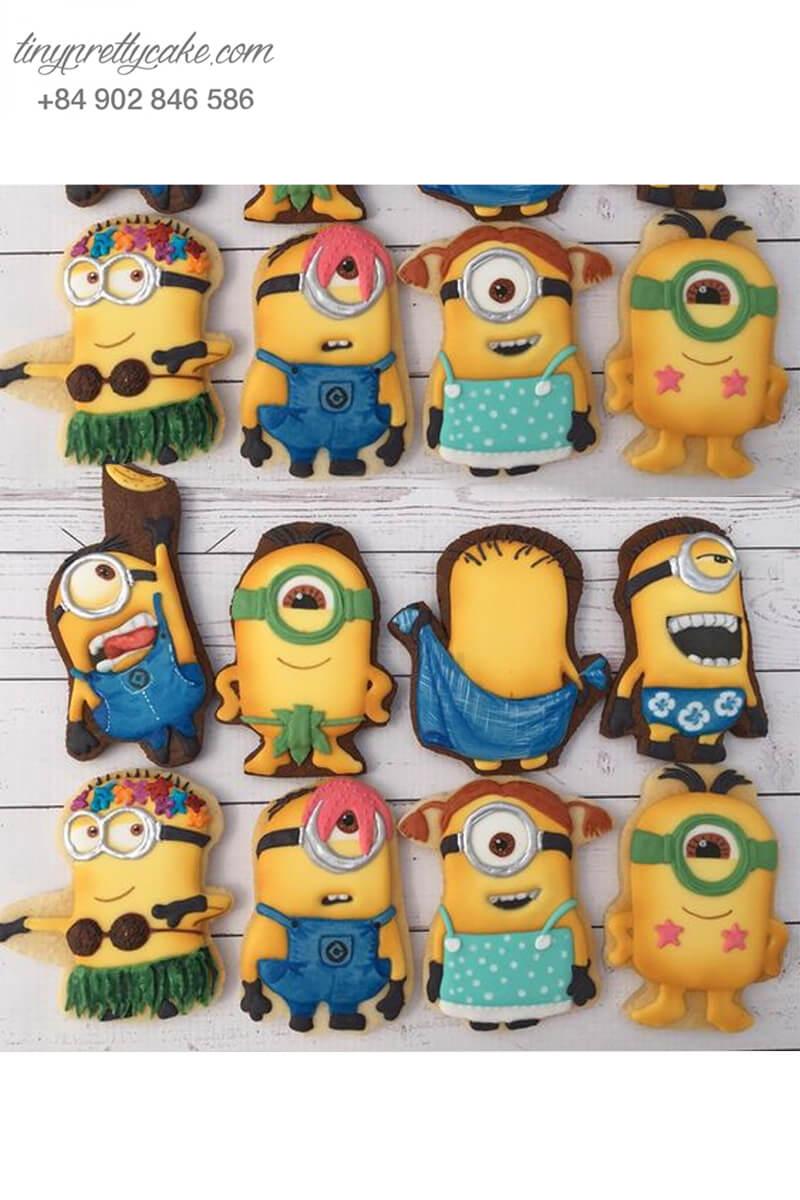 Set 8 cookie hình Minion hài hước đáng yêu mừng sinh nhật cho các bé
