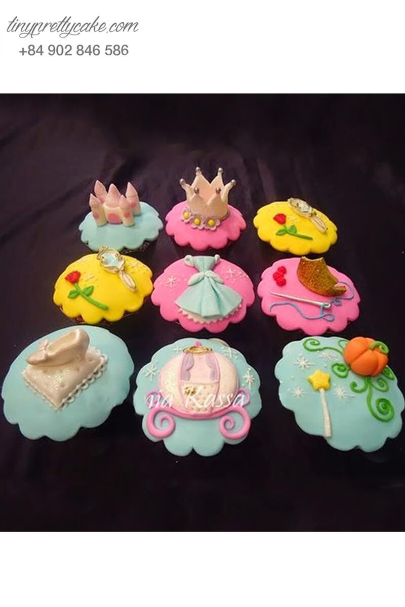"""Set 9 cupcake """"lọ lem"""" đáng yêu mừng sinh nhật các bé gái"""
