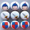 Set 12 Cupcake hoàng tử và thanh gươm kiêu hãnh mừng sinh nhật các bé trai