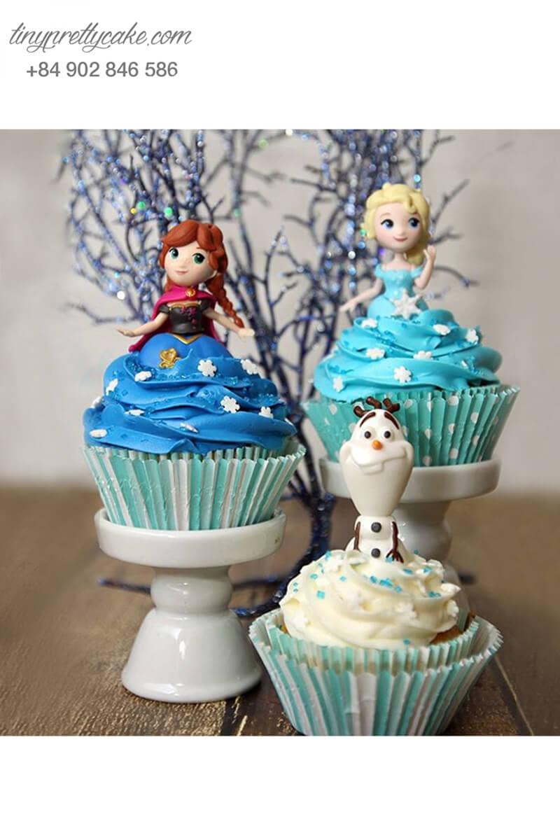 Set 3 Cupcake nhân vật Frozen lộng lẫy dành mừng sinh nhật các bé gái