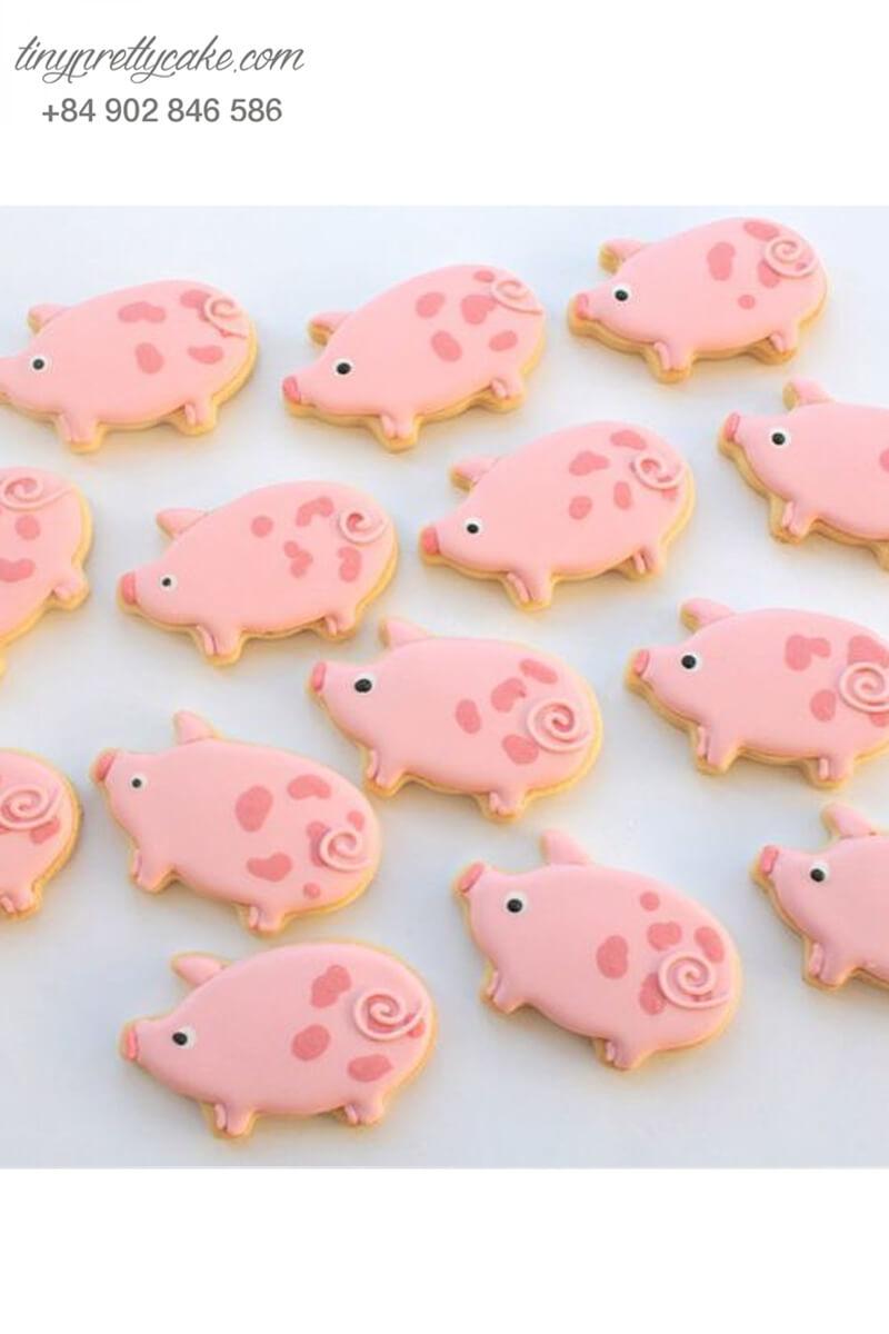 Cookie heo hồng mũm mĩm đáng yêu - mừng sinh nhật , đầy tháng cho các bé