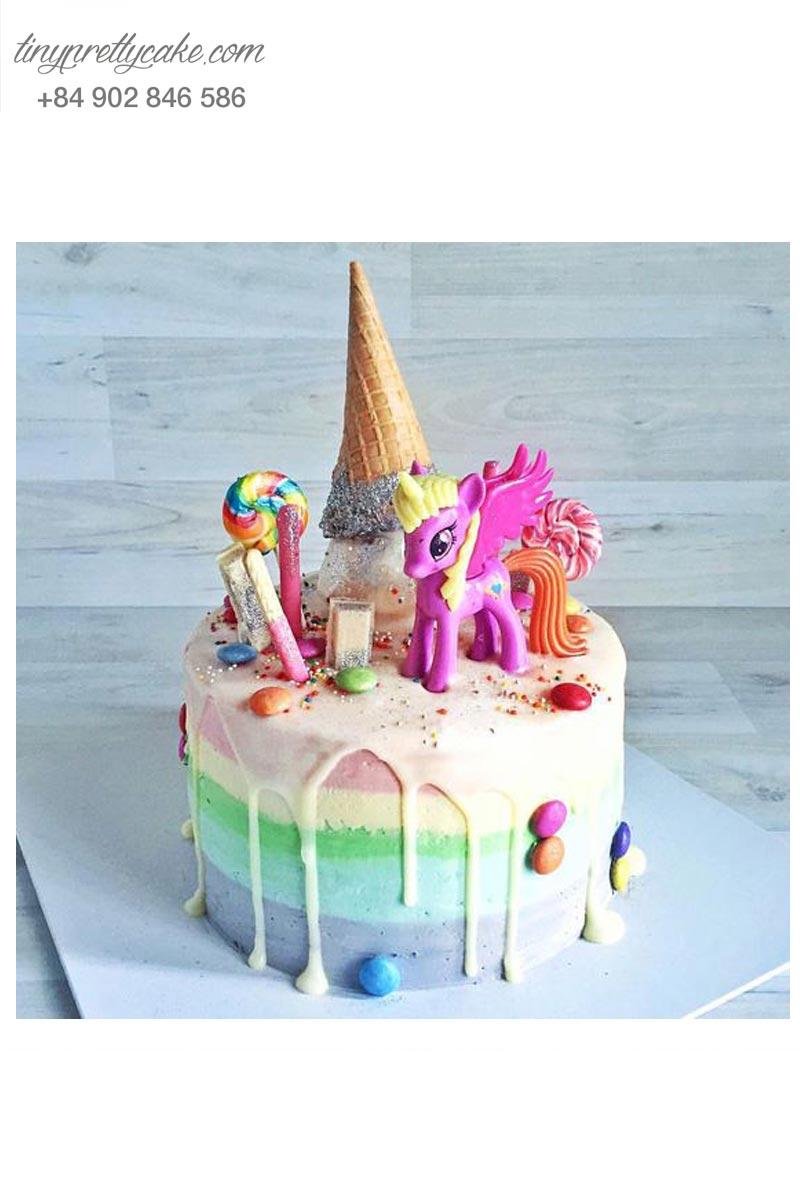 bánh gato Unicorn kẹo ngọt