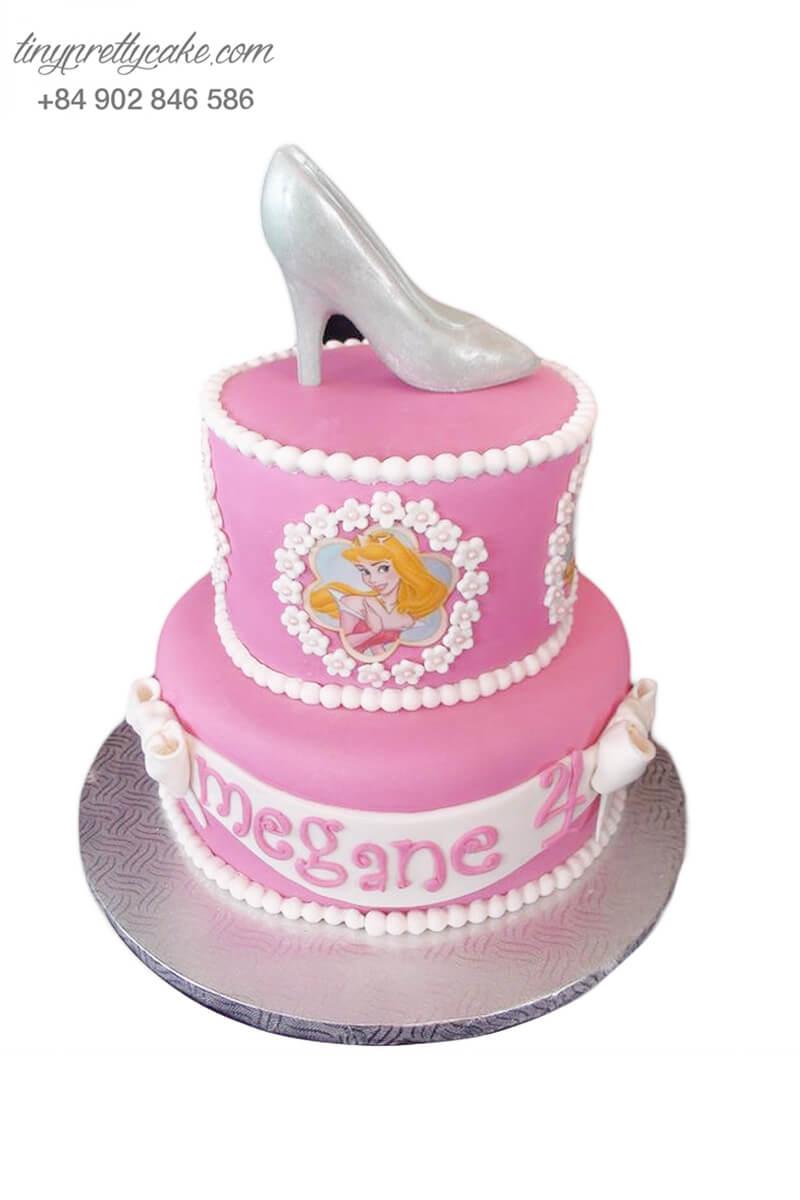 Bánh sinh nhật tạo hình chiếc giày cổ tích siêu xinh xắn cho bé gái (BF1161)