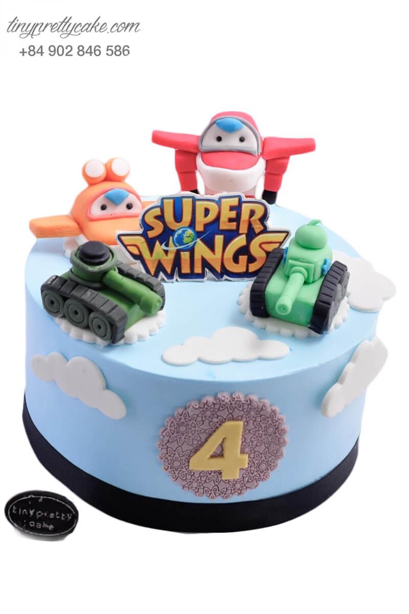 Bánh sinh nhật hình xe tăng và máy bay