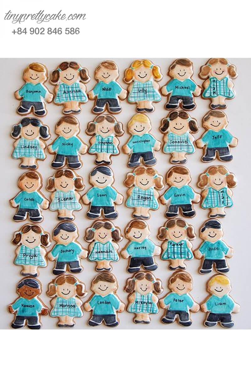 Set 30 Cookie hình bé trai và bé gái - mừng sinh nhật các bé