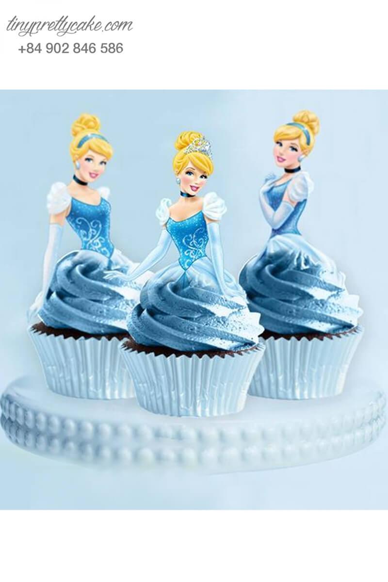 Bánh cupcake cô bé lọ lem lộng lẫy mừng sinh nhật cho bé gái