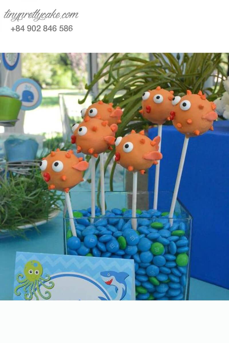 Bánh cakepop hình cá Nemo dễ thương mừng sinh nhật các bé