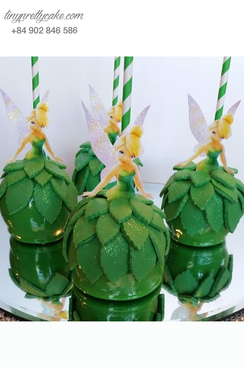 cake pop hình nàng tiên Tinker Bell