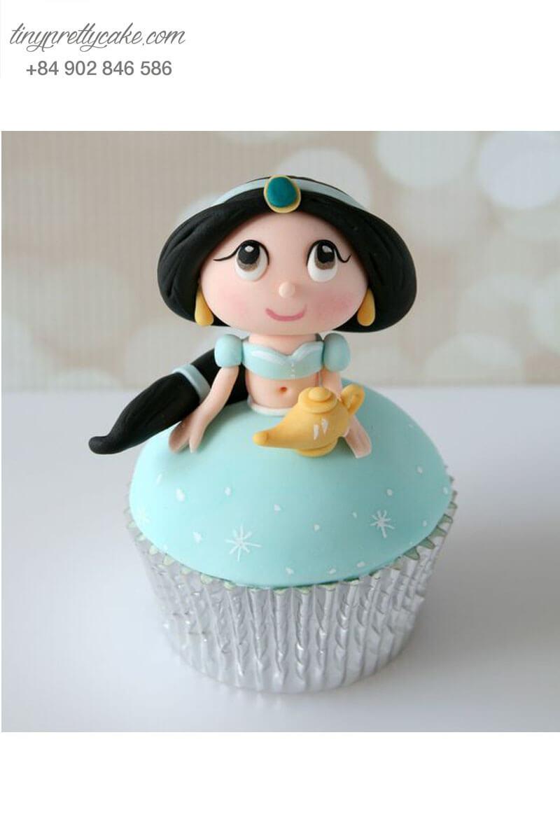 Bánh Cupcake công chúa Jasmine xinh xắn dành tặng sinh nhật các bé