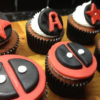 Set 6 cupcake deadpool lạ mắt mừng sinh nhật các bé