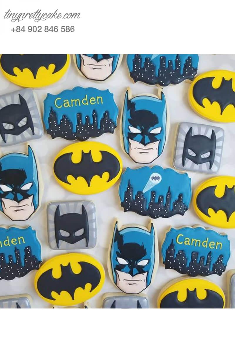 Set 18 Cookie tạo hình Batman cực chất - mừng sinh nhật, thôi nôi bé trai