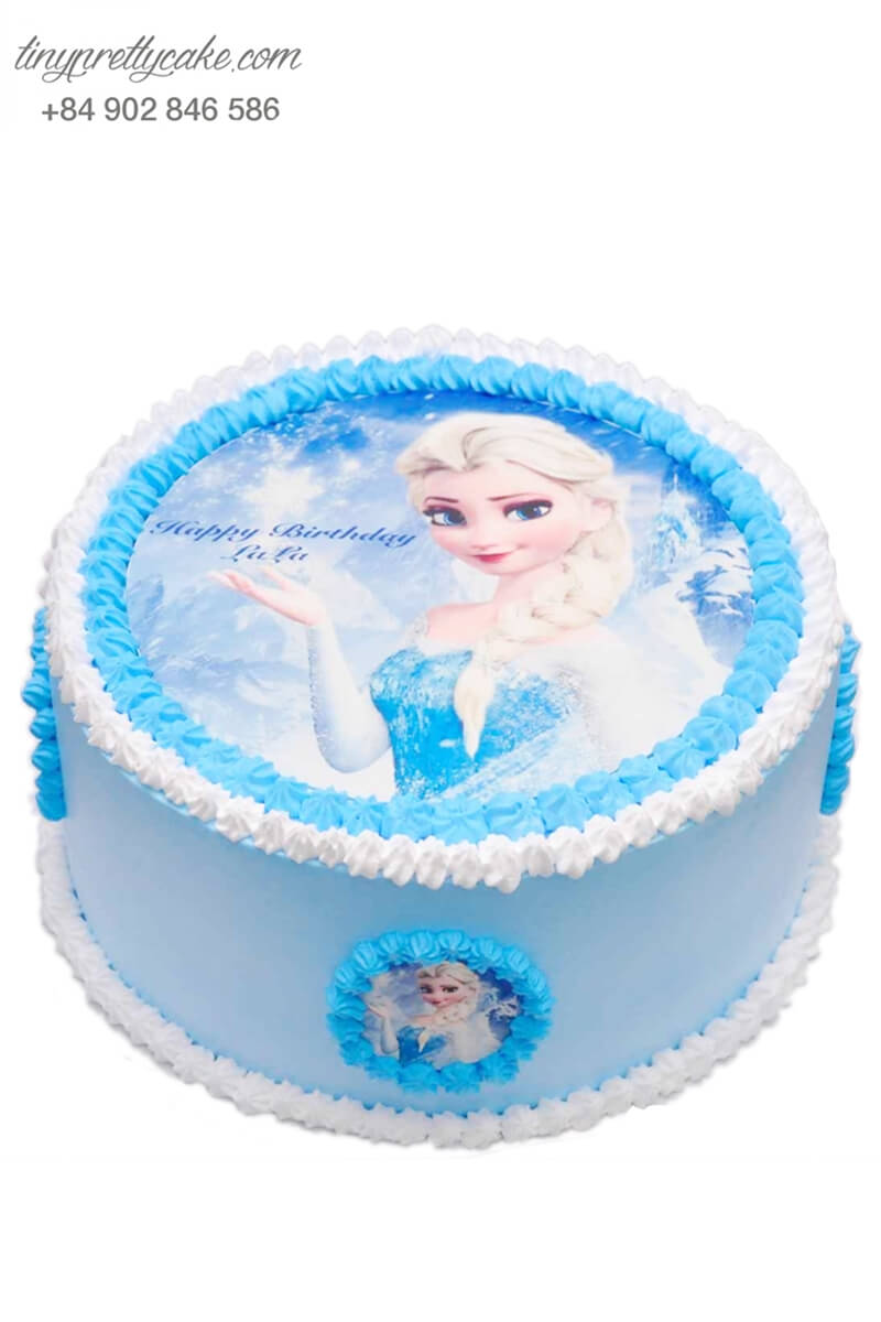 bánh kem hình Elsa