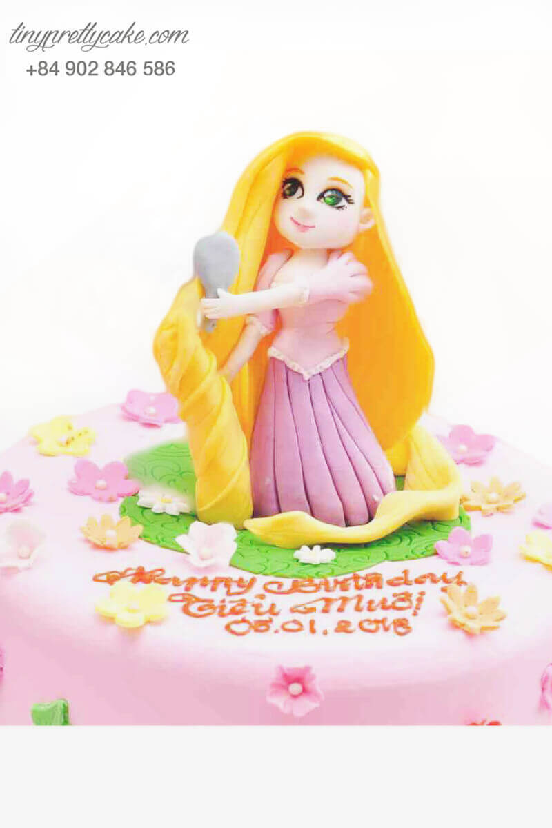 Bánh sinh nhật công chúa tóc dài Rapunzel