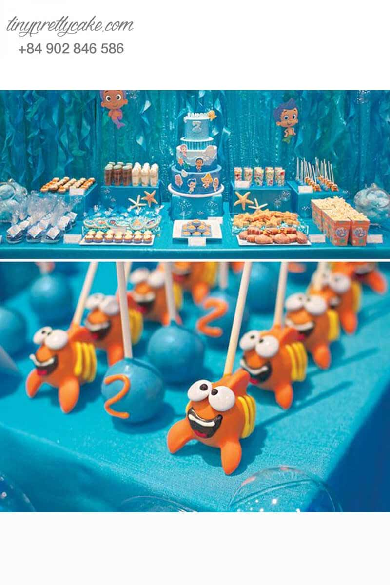 cake pop theo chủ đề cá Nemo