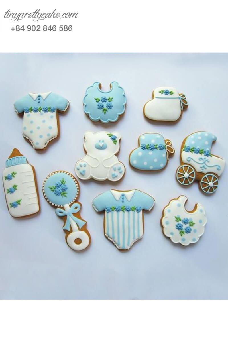 Set 10 Cookie tạo hình vật dụng của em bé - mừng sinh nhật bé trai, bé gái