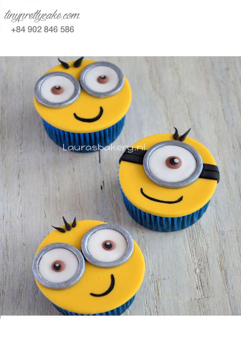 Set 3 Cupcake Minion hạnh phúc mừng sinh nhật các bé