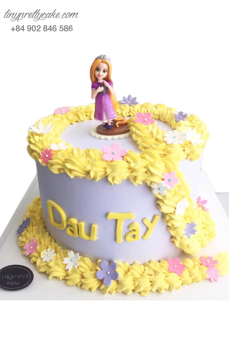 Bánh sinh nhật tạo hình công chúa tóc mây nhí siêu ngộ nghĩnh cho bé gái (BC3480)