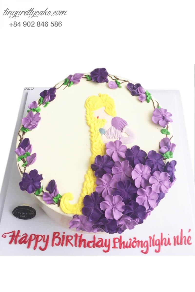 Bánh sinh nhật tạo hình công chúa lãng mạn cho bé gái dễ thương (BC35929)