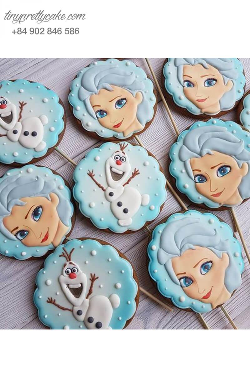 Set 9 Cookie Elsa và cậu bé tuyết dễ thương - mừng sinh nhật bé gái