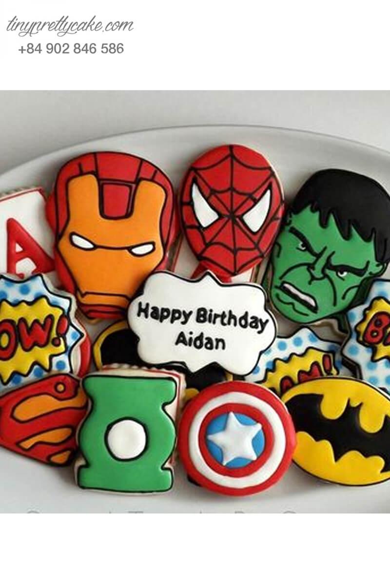 Bánh cookie siêu anh hùng đa dạng