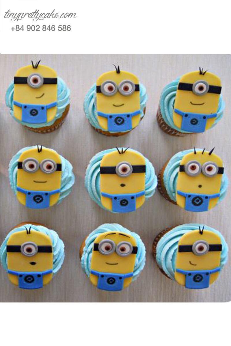 Set 12 Cupcake chủ đề Minion vui vẻ mừng sinh nhật các bé