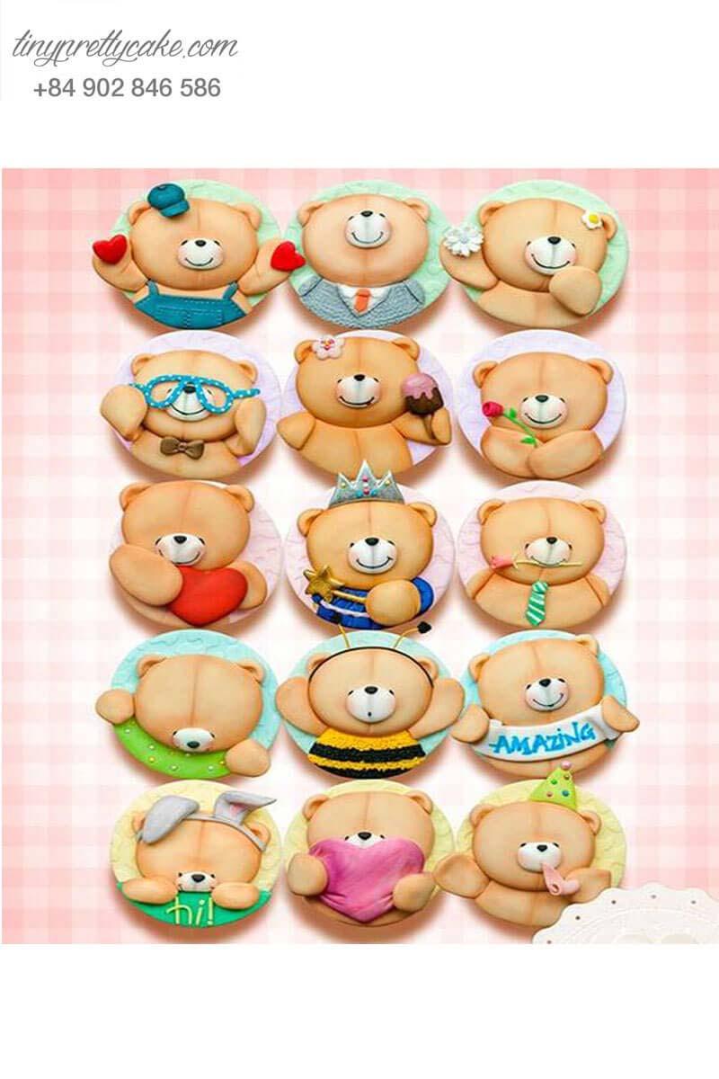 Set 15 cupcake hình gấu ngộ nghĩnh ...