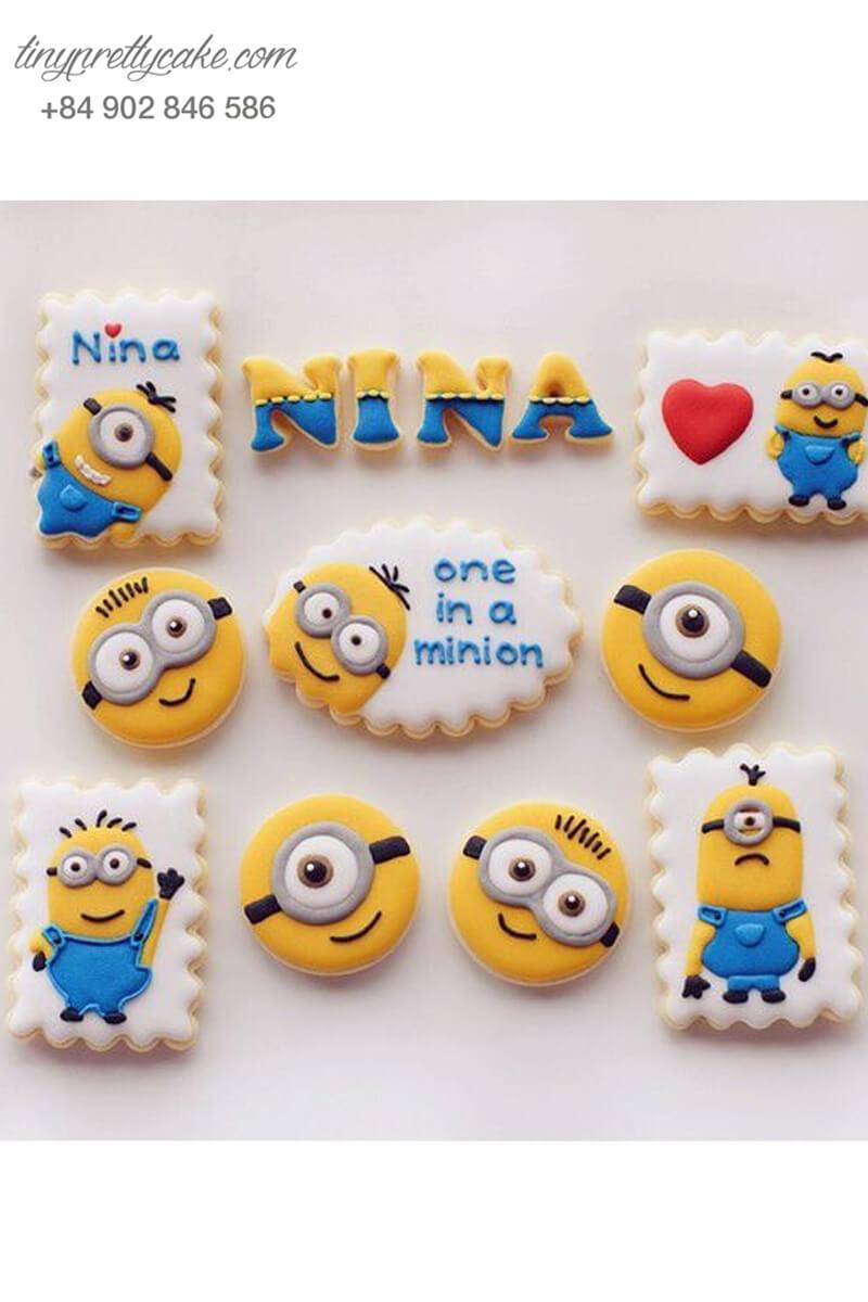 Set 10 cookie Minion Bob và Stuart siêu đáng yêu - mừng sinh nhật các bé