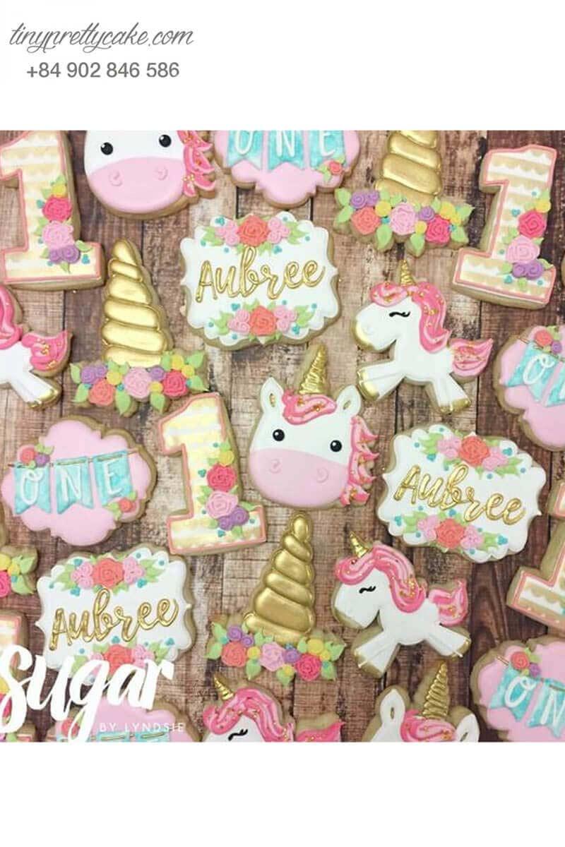 bánh cookie Unicorn vui vẻ