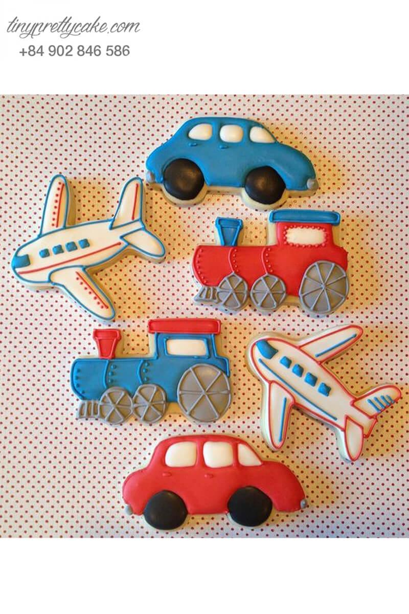 Set 6 cookie xe hơi và máy bay ngộ nghĩnh – mừng sinh nhật cho bé trai