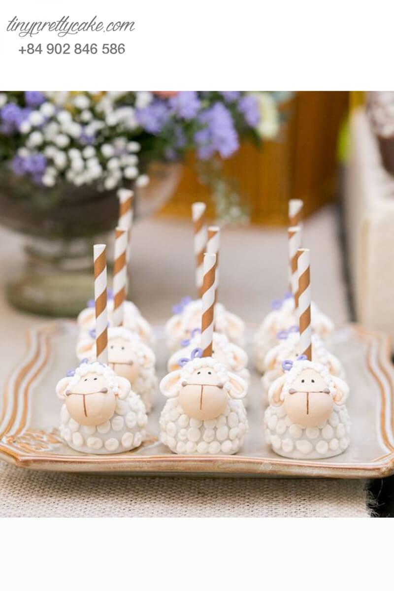 Bánh cakepop những chú cừu tinh tế và cô cùng dễ thương dành tặng các bé ngày sinh nhật