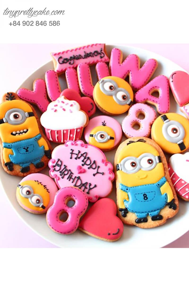 Set 10 ookie Minion hồng cực lạ - mừng sinh nhật cho các bé
