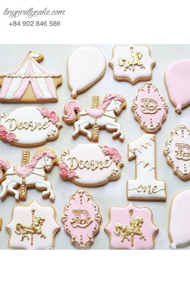 Set 18 Cookie hình Unicorn công chúa thơ mộng - mừng sinh nhật bé gái