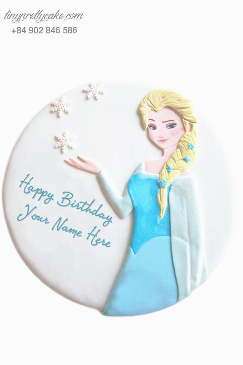 Bánh sinh nhật tạo hình công chúa băng tuyết Elsa siêu xinh cho bé gái (BC3675)