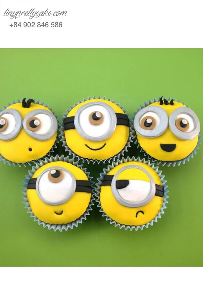 Set 5 Cupcake Minion độc đáo mừng sinh nhật các bé