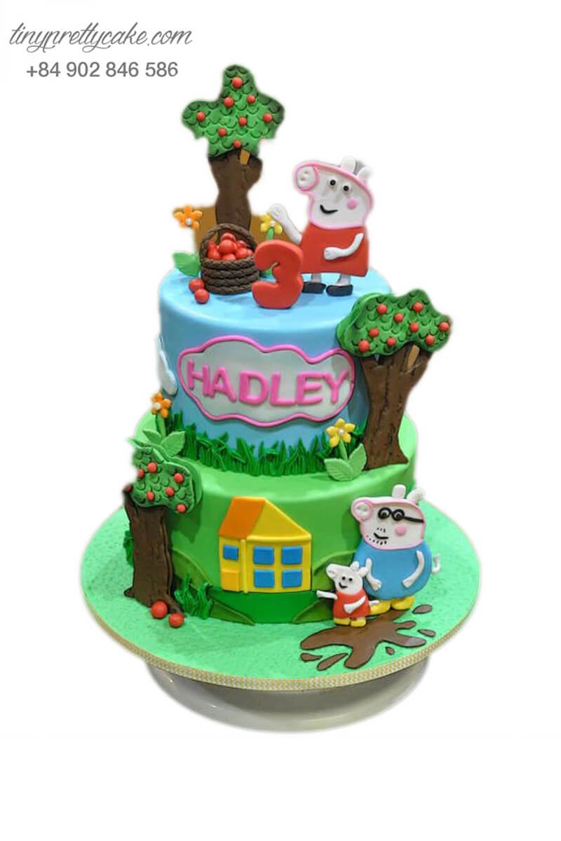 Gato khu vườn của Peppa độc đáo, mừng sinh nhật, đầy tháng cho các bé