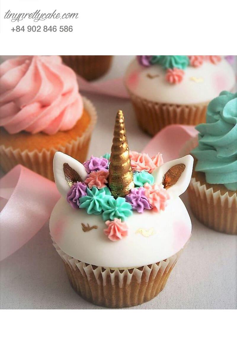 Set 5 Cupcake Unicorn nhẹ nhàng và mới lạ mừng sinh nhật bé gái
