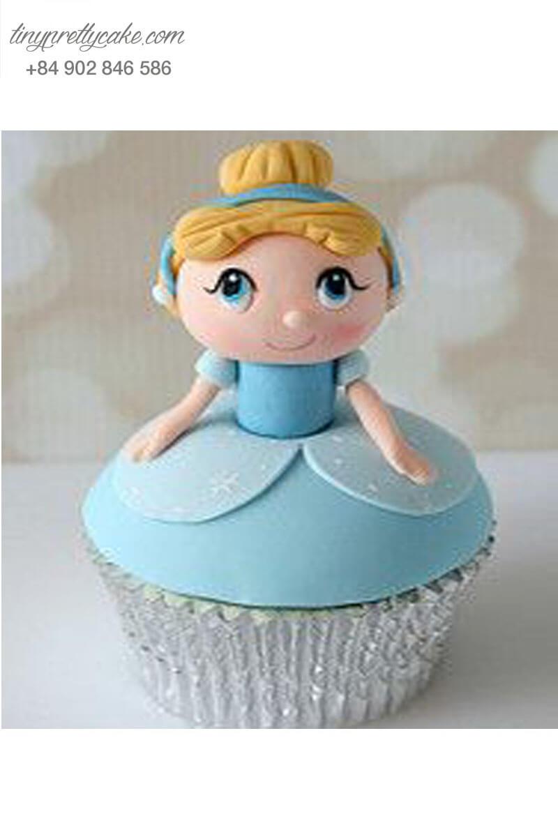 Bánh Cupcake công chúa lọ lem đáng yêu dành tặng sinh nhật các bé