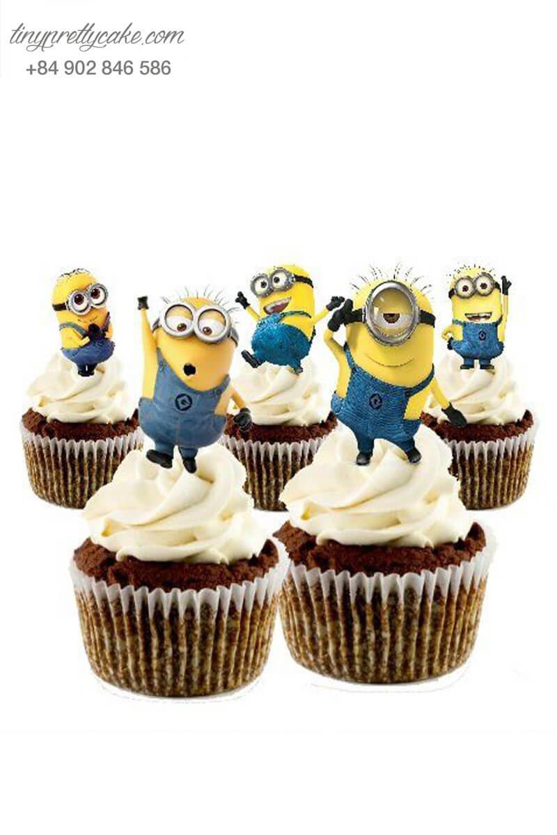 Set 5 Cupcake Minion siêu cool mừng sinh nhật các bé