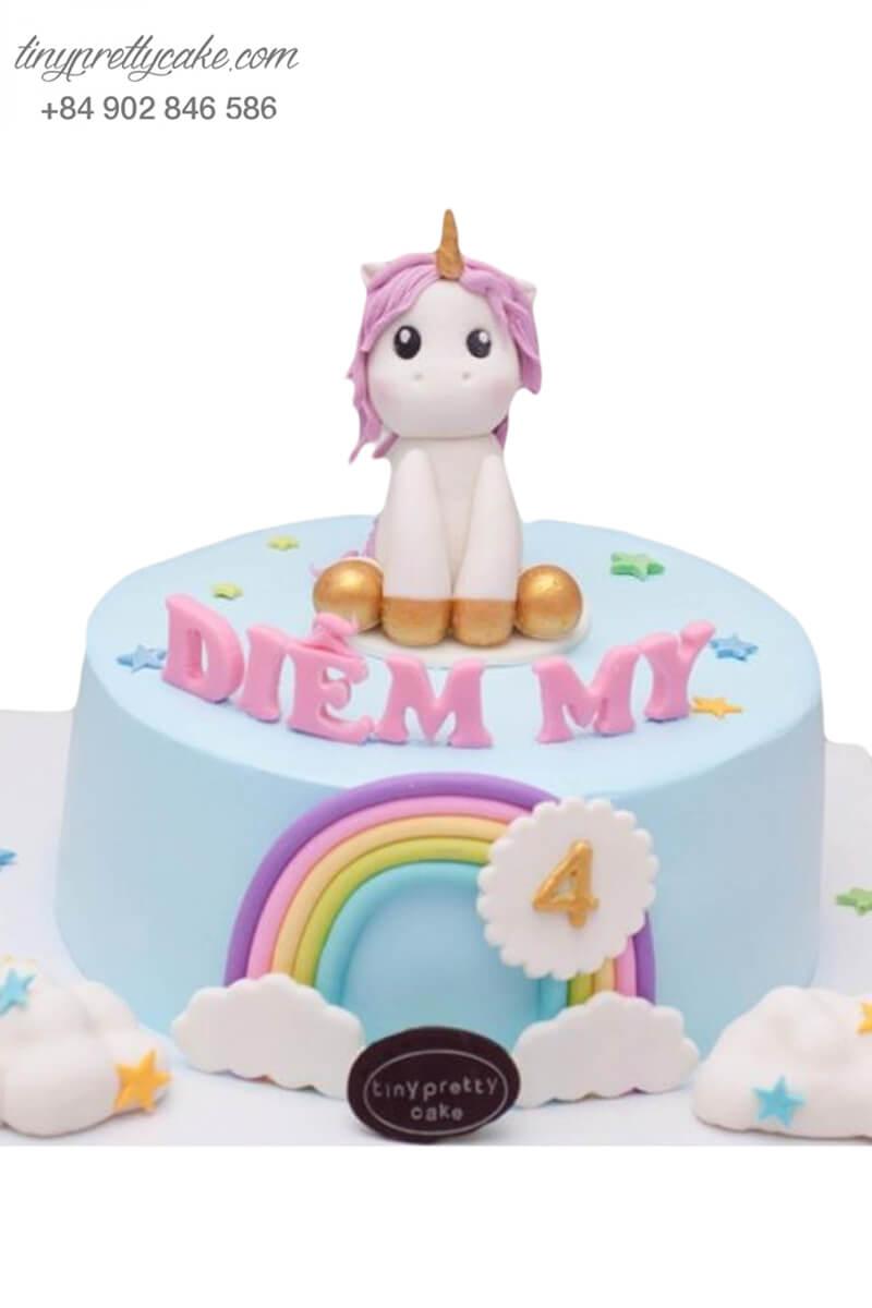 bánh sinh nhật Unicorn đáng yêu