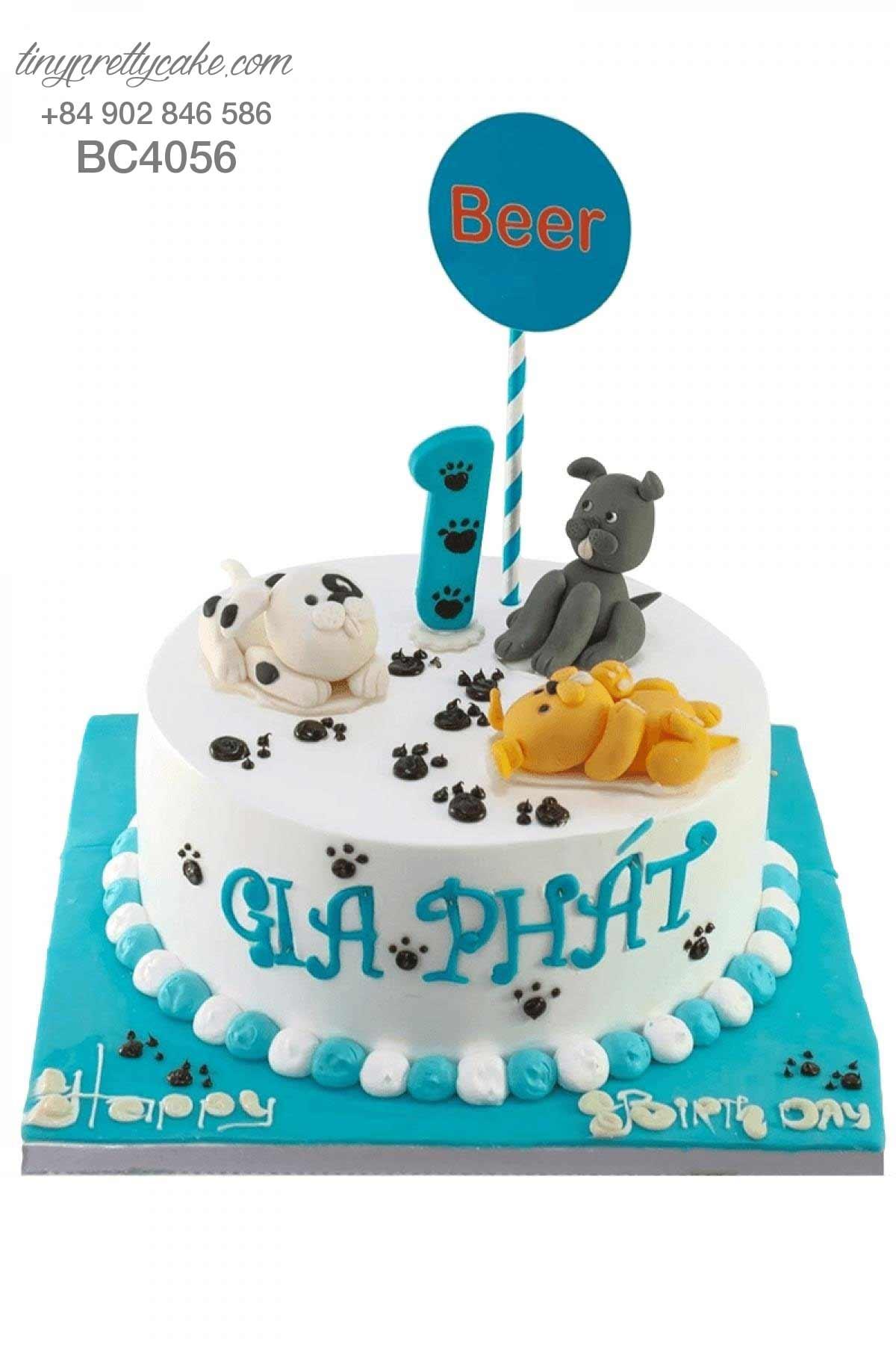 Bánh sinh nhật con chó ngộ nghĩnh