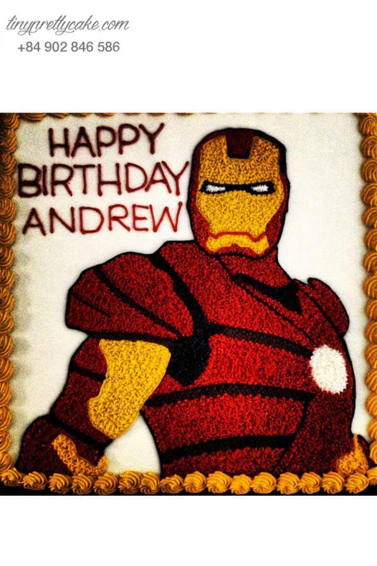 bánh gato siêu nhân Iron Man