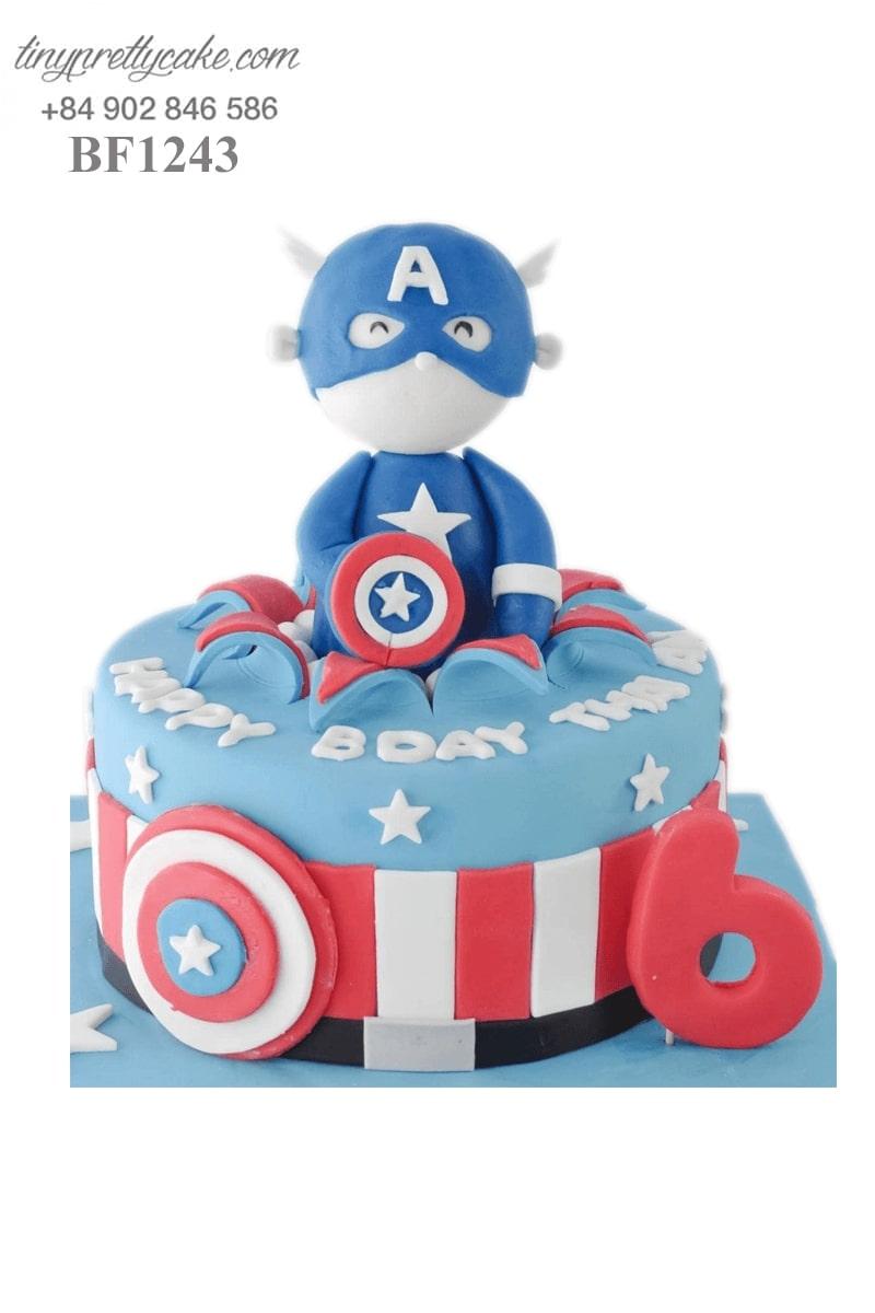 bánh kem Captain American dễ thương