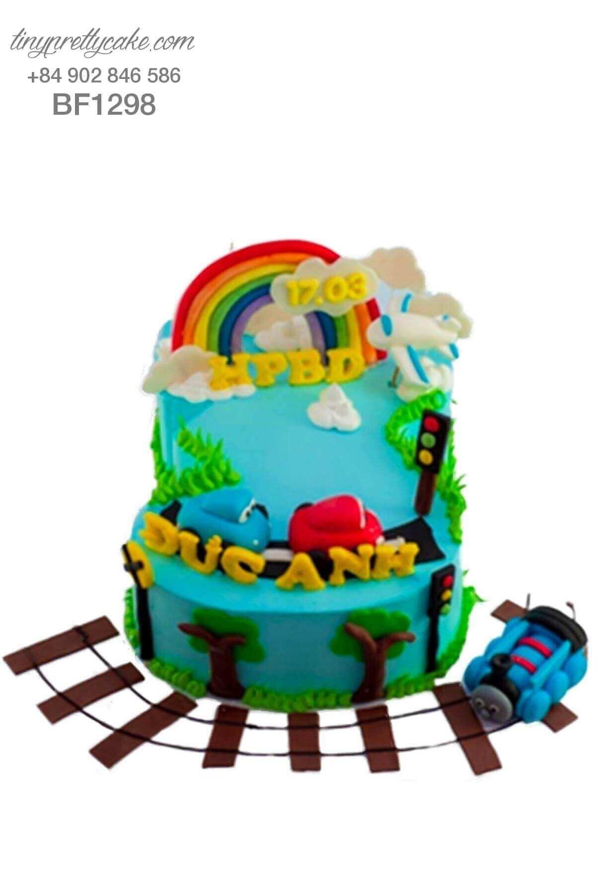 bánh sinh nhật tàu hoả thomas