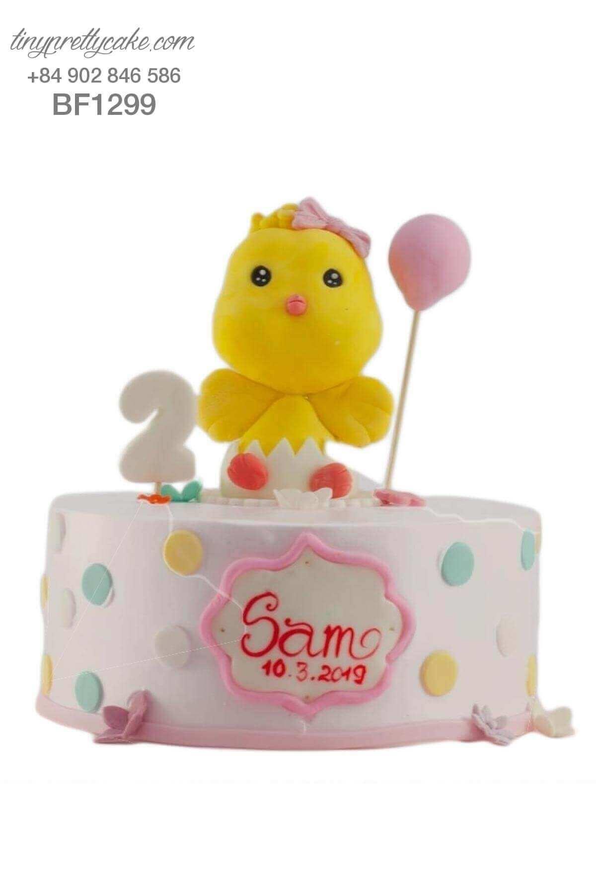 bánh sinh nhật gà con