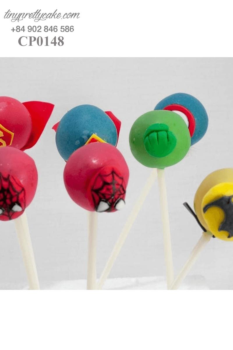 Set 12 bánh cakepop tạo hình các siêu anh hùng Avenger dành cho các bé trai ngày sinh nhật
