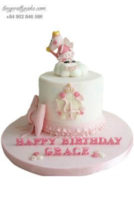 Bánh gato heo công chúa mừng sinh nhật đầy tháng cho bé gái