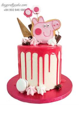 Bánh gato hình chú heo và cây kem đáng yêu - mừng sinh nhật, đầy tháng cho các bé